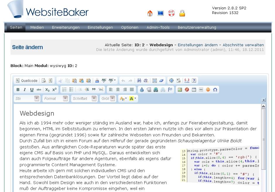 WYSIWYG-Editor